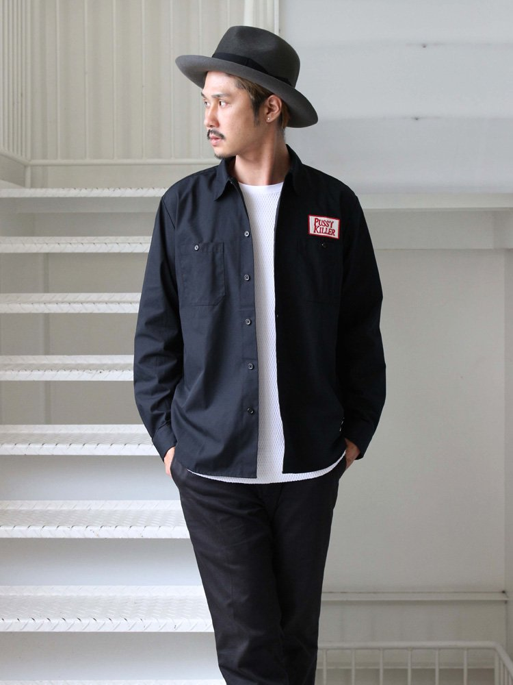 WACKO MARIA | ワコマリア WORK SHIRT -A- (TYPE 3-GUILTY) #BLACK