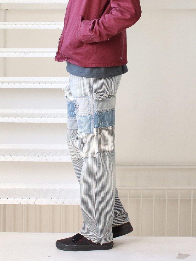 Varde77 | バルデセブンティセブン PATCHWORK DAMAGE HICKORY PAINTER PANTS #HICKORY