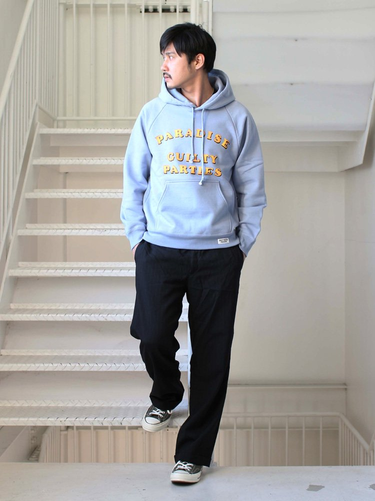 WACKO MARIA | ワコマリア WASHED HEAVY WEIGHT PULLOVER HOODED SWEAT SHIRT (TYPE 2) #L-BLUE