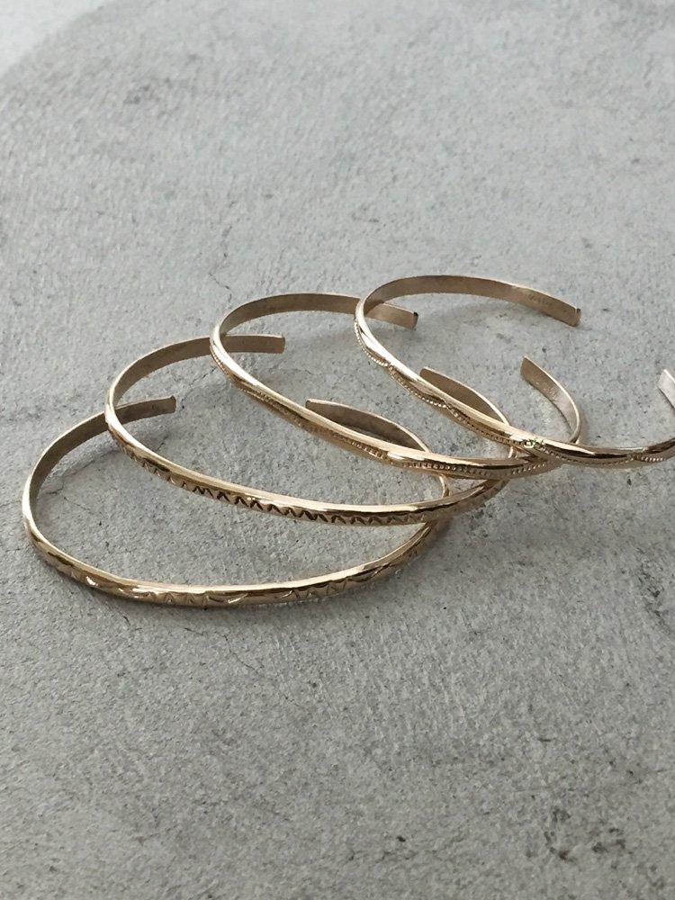 NARROW BANGLE (1SET) #SILVER/GOLD/SILVER