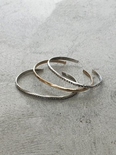 NARROW BNGLE (1SET) #SILVER/GOLD/SILVER