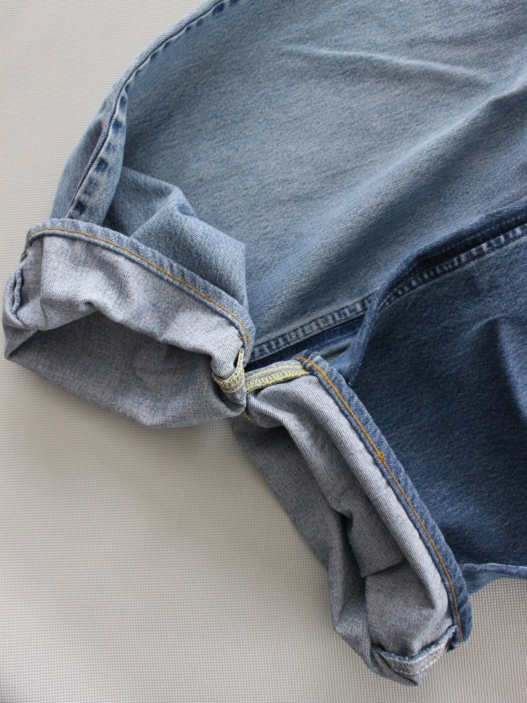 MADE BY SUNNY SIDE UP | メイドバイサニーサイドアップ REMAKE 2 FOR 1 LOOSE DENIM PANTS #E/SIZE 4