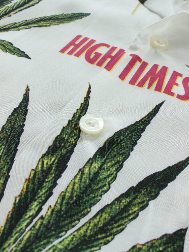 HIGHTIMES | HAWAIIAN SHIRT (TYPE 2) #WHITE