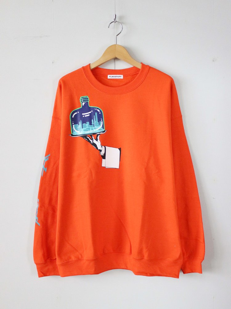 F-LAGSTUF-F|Hand SWEAT #ORANGE