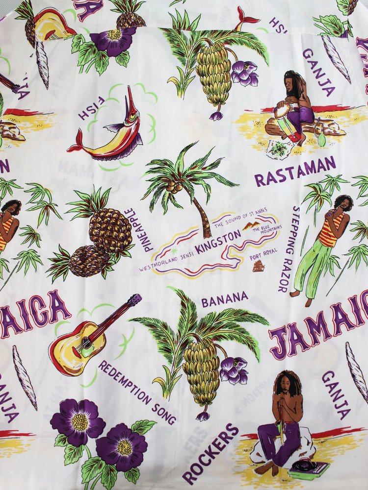 JAMAICA S/S HAWAIIAN SHIRT #WHITE