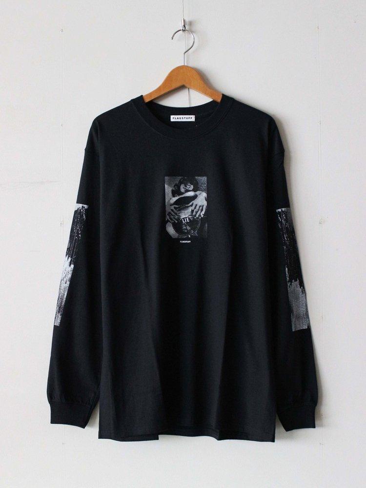 F-LAGSTUF-F|L/S Tee #BLACK