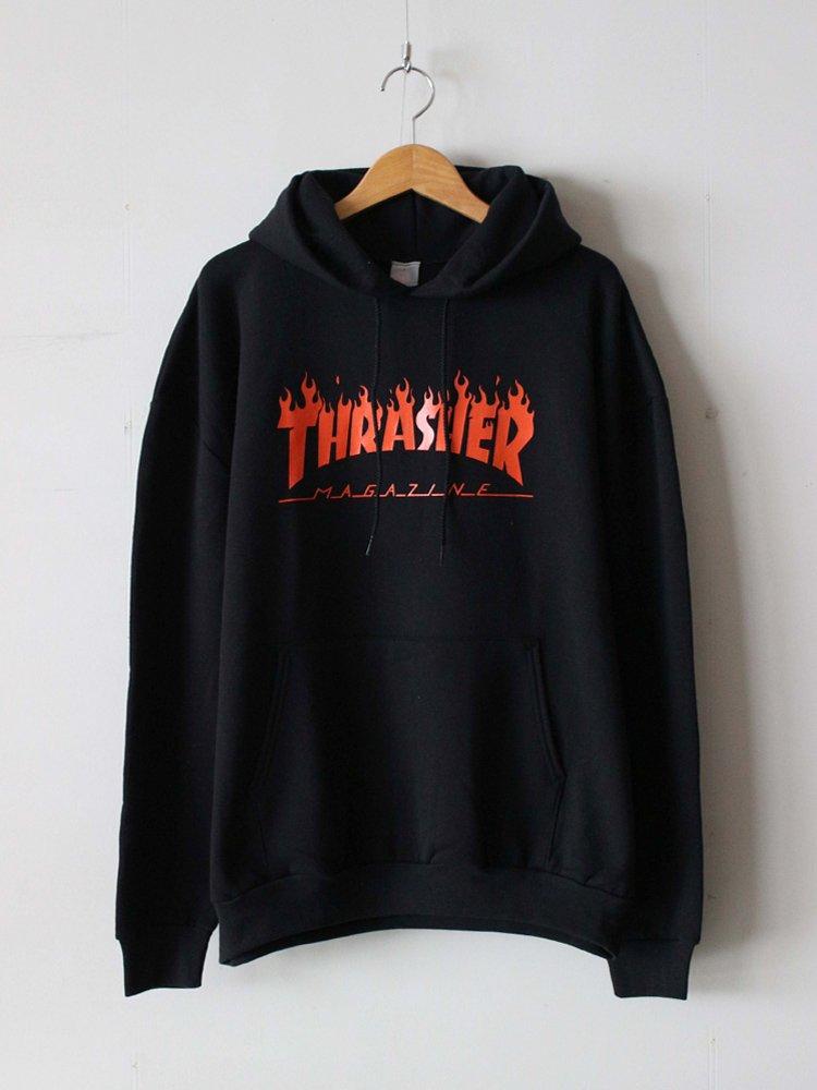 JACKSON MATISSE THRASHER FLAME LOGO Parka #Black