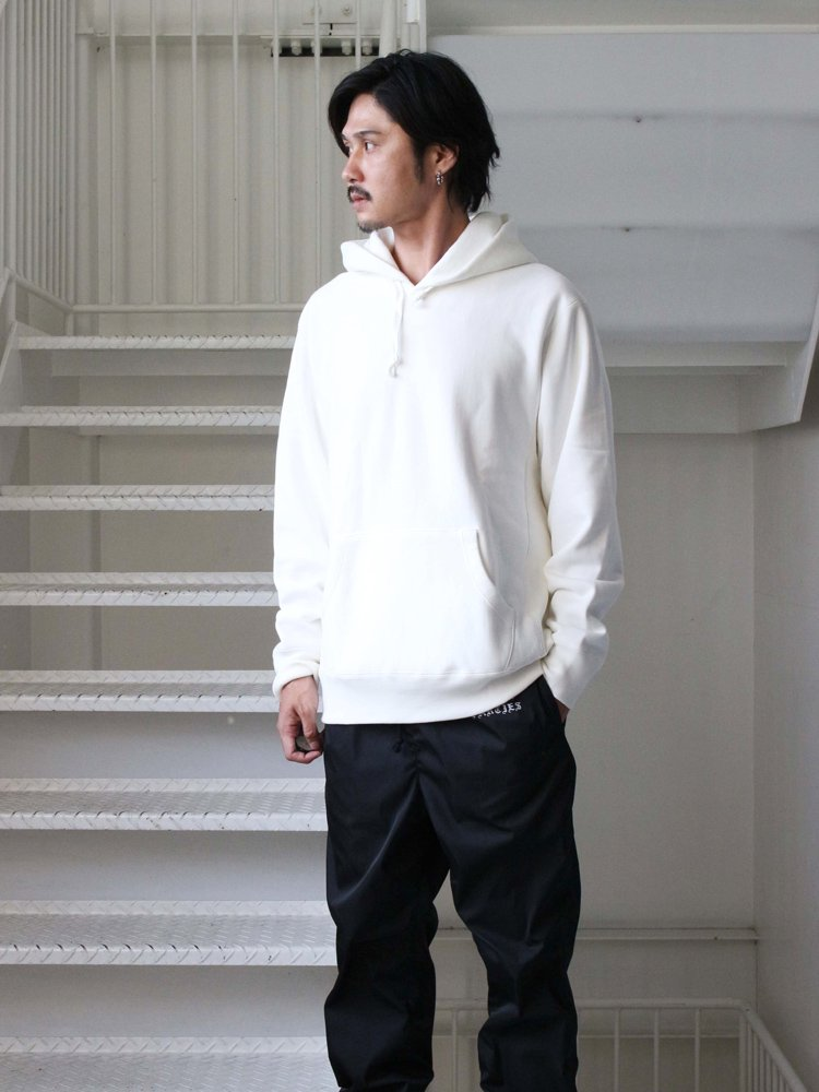 HEAVY WEIGHT PULLOVER HOODED SWEAT SHIRT (TYPE 3) #WHITE