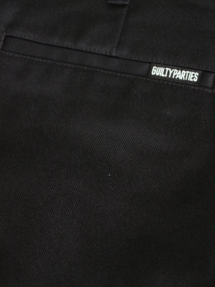 TWILL SKATE PANTS (TYPE 1) #BLACK