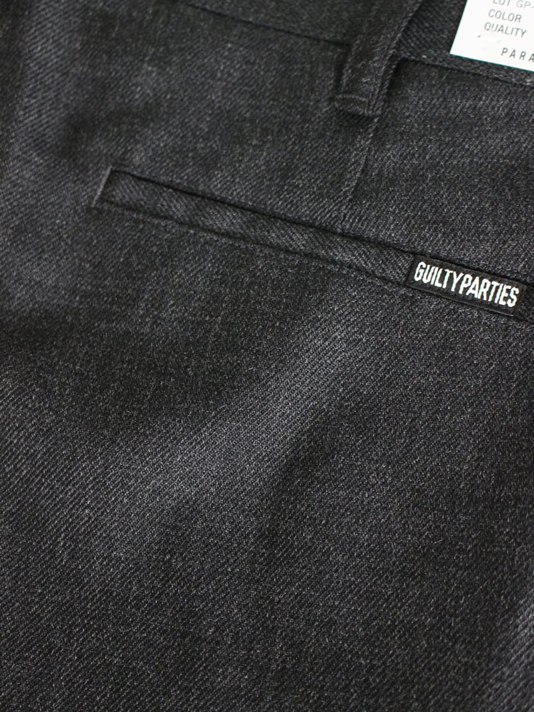 WOOL SKATE TROUSERS (TYPE 1) #CHARCOAL