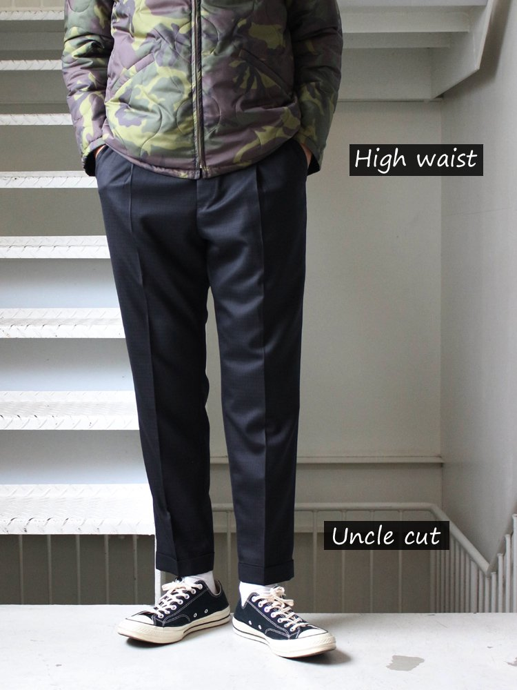 PLEATED TROUSERS (TYPE 1) #BLACK