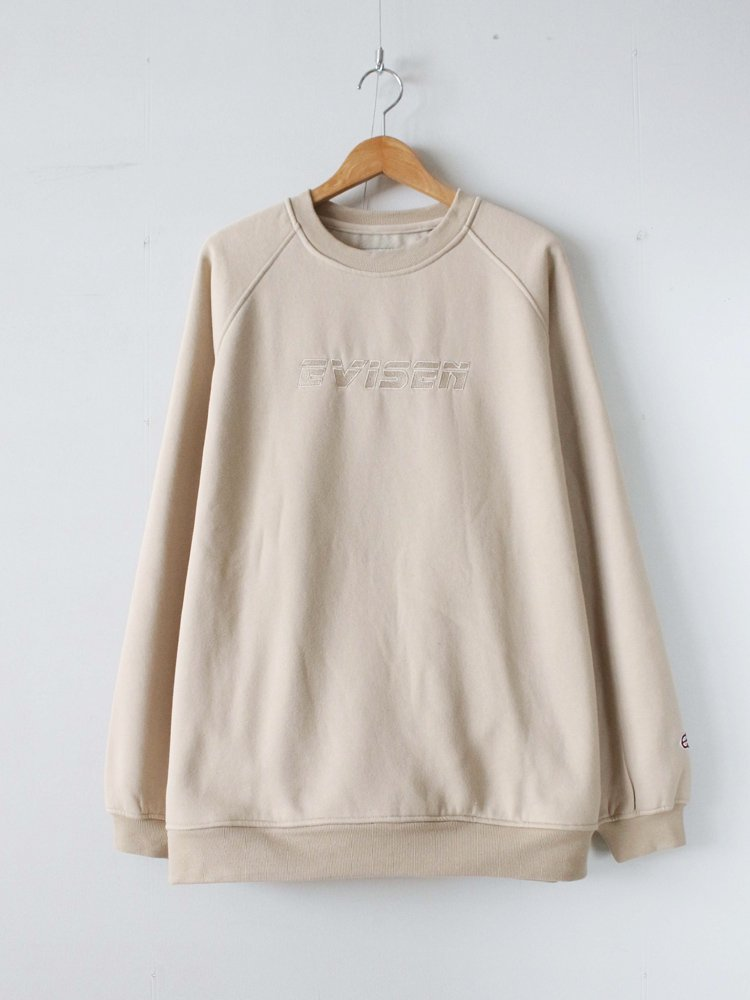 Evisen Skateboards|REPLICANT STITCH CREW NECK #BEIGE