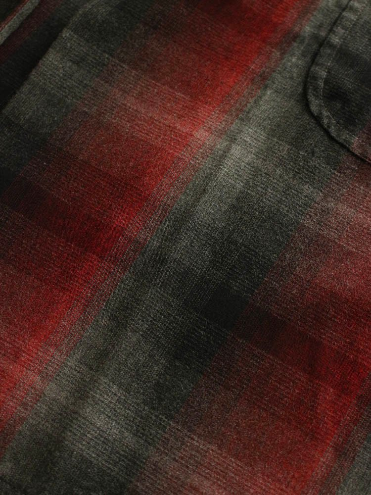 60'S OMBRAY CHECK GOWN COAT #RED [19SSE-WMO-CO01]