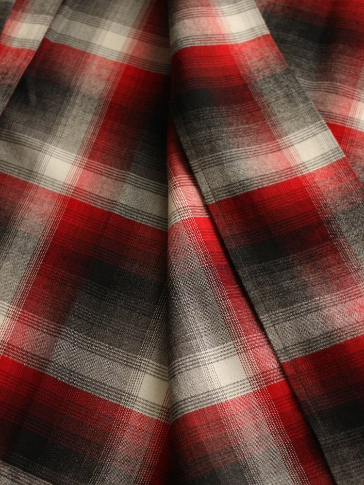 CALIFORNIA CHECK GOWN COAT #RED [19SSE-WMO-CO02]
