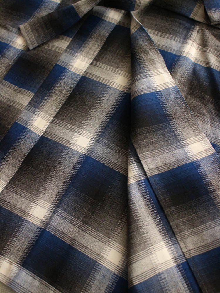 CALIFORNIA CHECK GOWN COAT #BLUE [19SSE-WMO-CO02]