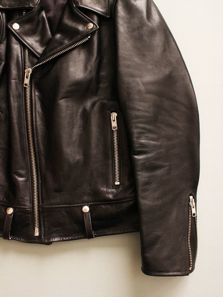 DOUBLE RIDERS LEATHER JACKET #BLACK [19SSE-WMO-BL01]