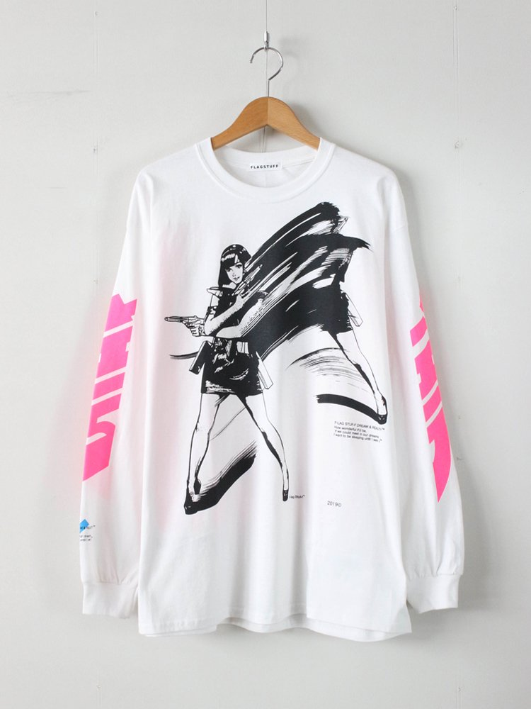DREAM AND REALITY L/S TEE1 #WHITE [19SS-FS-45]