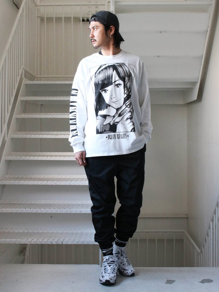 DREAM AND REALITY L/S TEE2 #WHITE [19SS-FS-46]