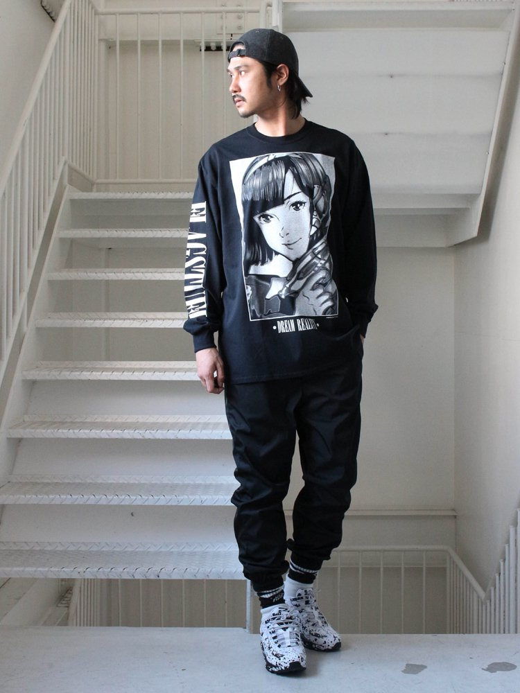 DREAM AND REALITY L/S TEE2 #BLACK [19SS-FS-46]