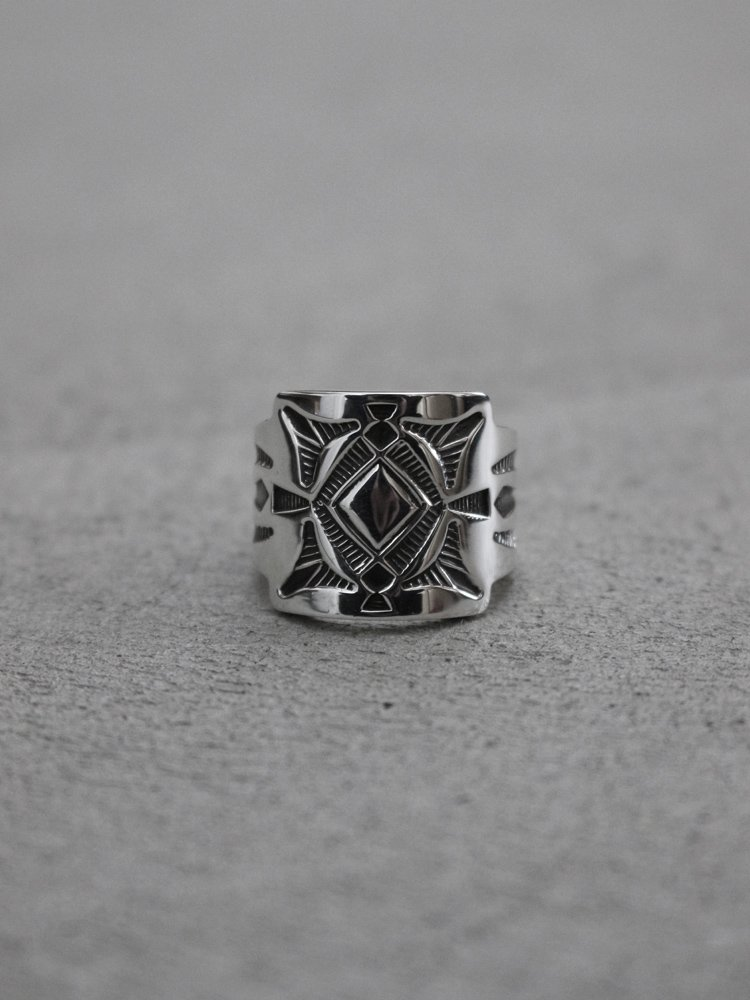 Indian Jewelry|Jennifer Curtis / Navajo Ring #SILVER [190312-IND-02]