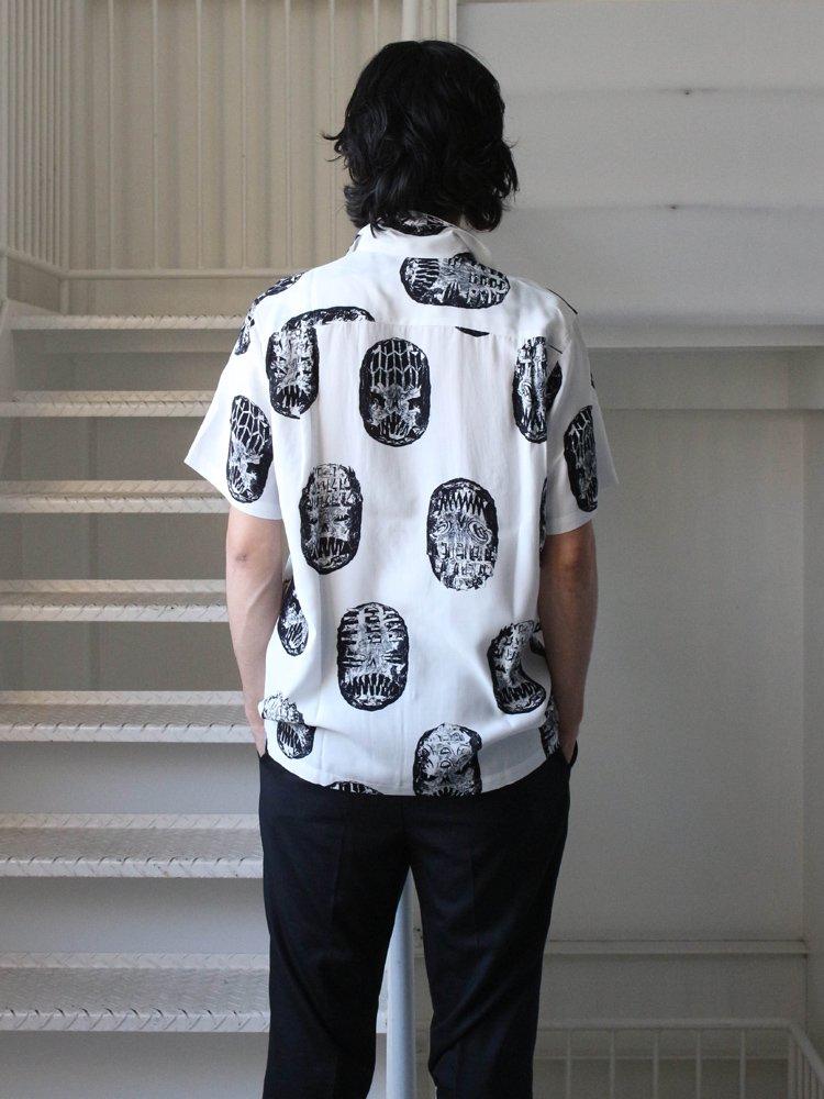 NECK FACE   S/S HAWAIIAN SHIRT (TYPE 1) #WHITE [NECKFACE-WM-HI07]