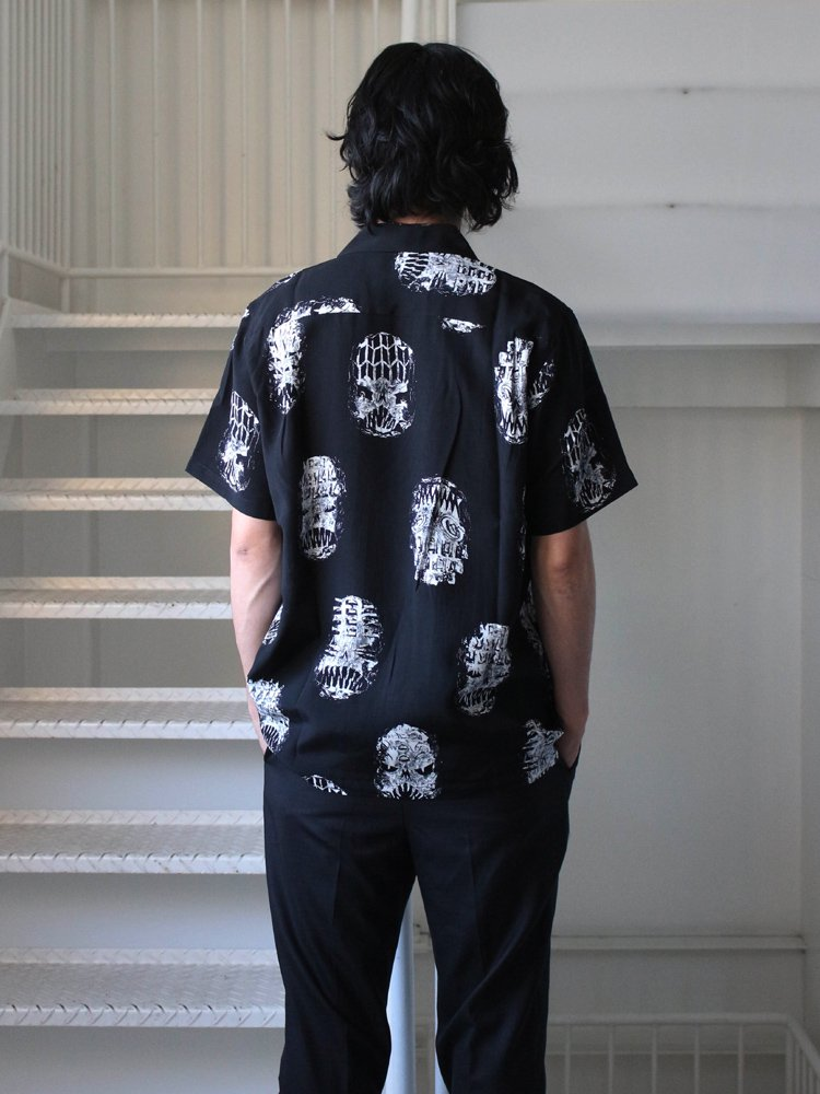 NECK FACE | S/S HAWAIIAN SHIRT (TYPE 1) #BLACK [NECKFACE-WM-HI07]