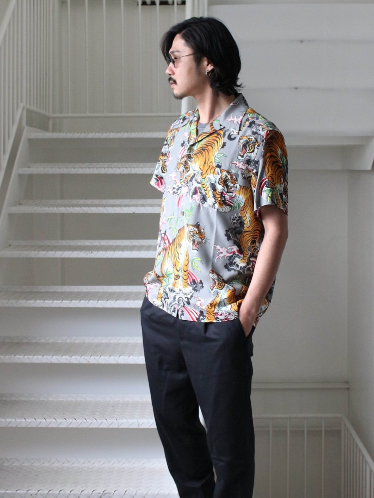 TIM LEHI | S/S HAWAIIAN SHIRT (TYPE 2) #GRAY [TIMLEHI-WM-HI03]