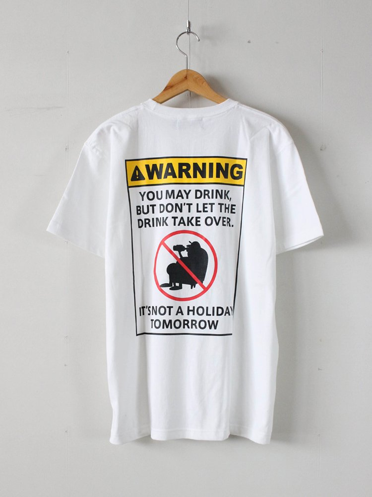 WARNING TEE #WHITE [C1936914]