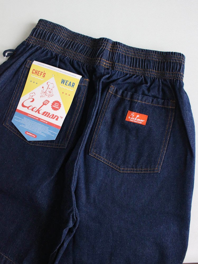 CHEF SHORT PANTS (DENIM) #NAVY [231-91990]