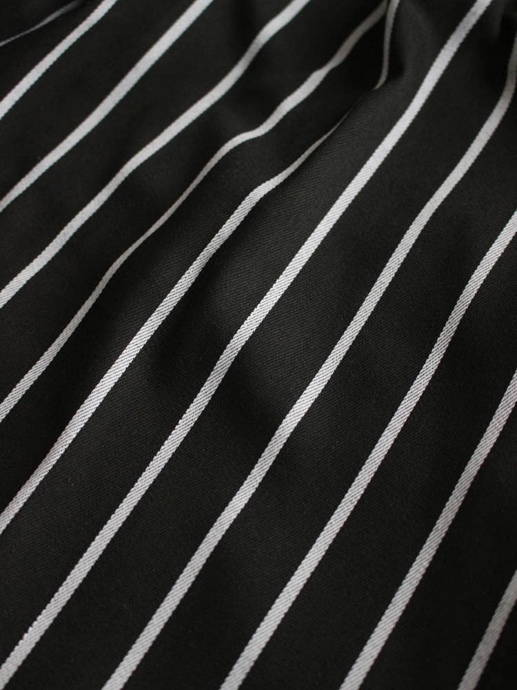 CHEF SHORT PANTS (PIN STRIPE) #T/C BLACK [231-83844]