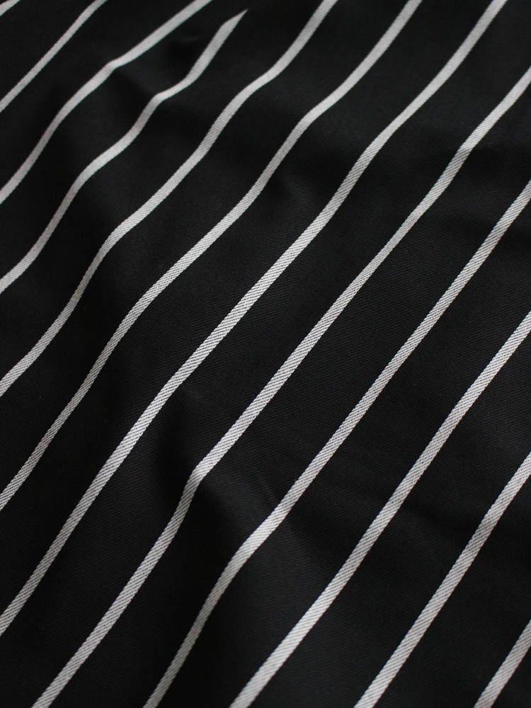 CHEF PANTS (PIN STRIPE) #T/C BLACK [231-83801]