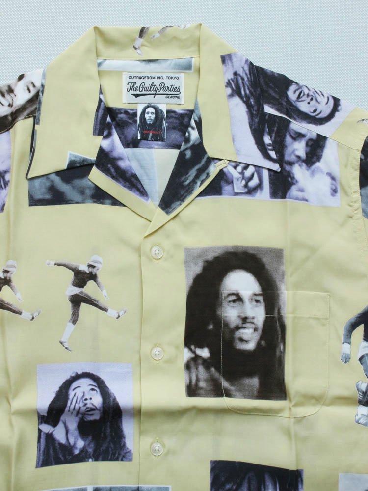 BOB MARLEY | S/S HAWAIIAN SHIRT #YELLOW [BOBMARLEY-WM-HI02]