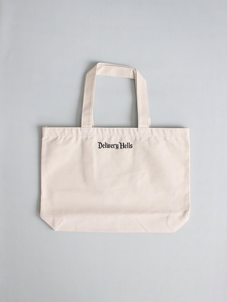 F-LAGSTUF-F|DELIVERY HELLS TOTE BAG (L) #WHITE [19AW-DH-28]