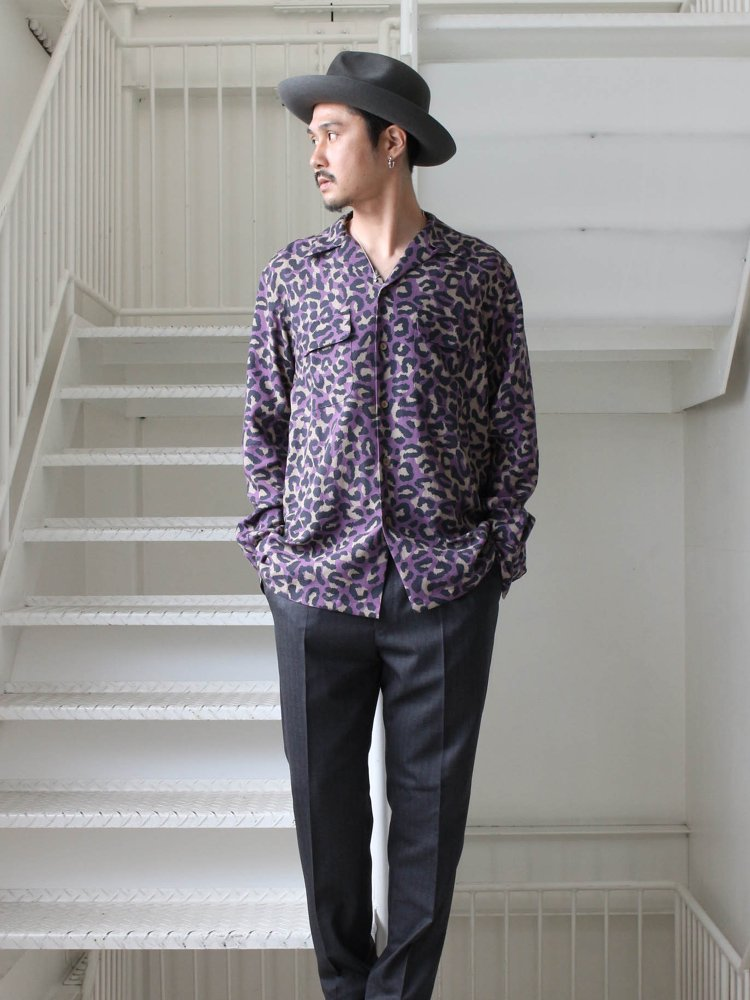 HAWAIIAN SHIRT L/S (TYPE 2) #PURPLE [19FW-WMS-HI02]