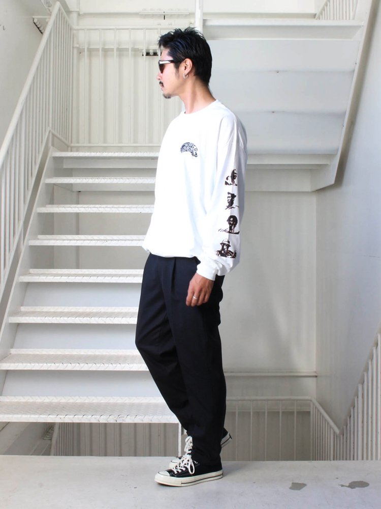CREW NECK LONG SLEEVE T-SHIRT (TYPE 3) #WHITE [19FW-WMT-LT03]