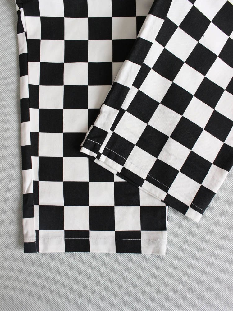 CHEF PANTS (CHECKER) #BLACK [231-83831]