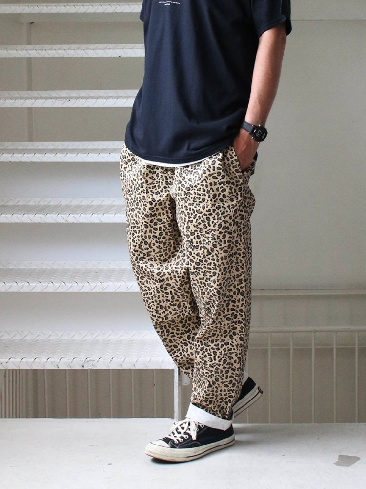 CHEF PANTS (LEOPARD) #BEIGE [231-83854]