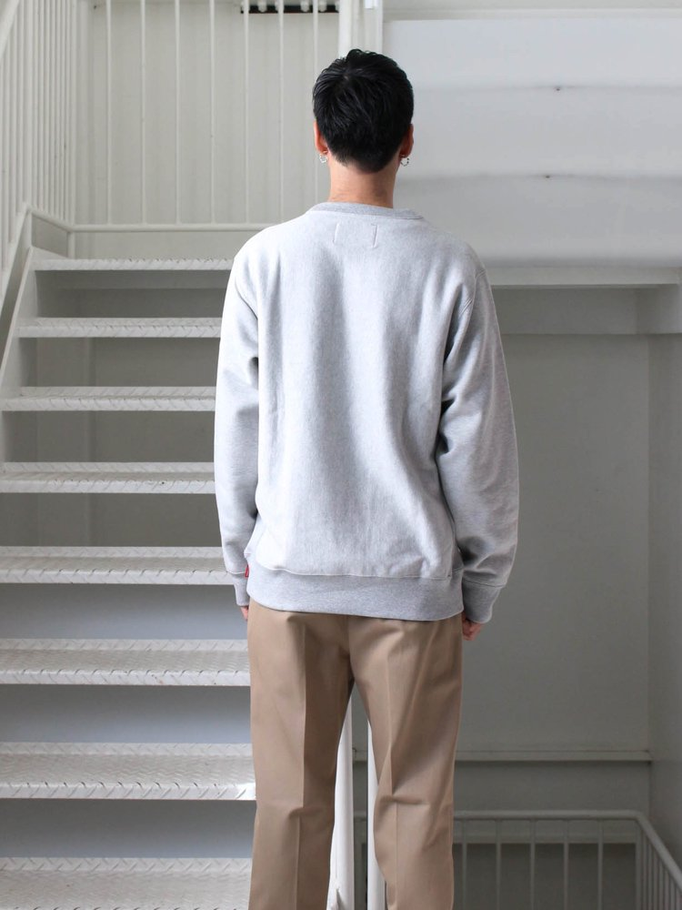 HEAVY WEIGHT CREW NECK SWEAT SHIRT (TYPE 4) #GRAY [19FW-WMC-SS15]