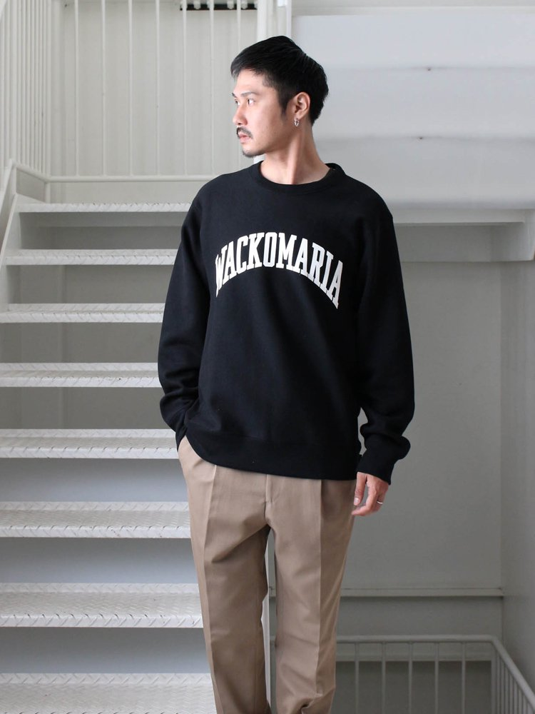 HEAVY WEIGHT CREW NECK SWEAT SHIRT (TYPE 4) #BLACK [19FW-WMC-SS15]