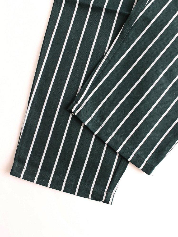 CHEF PANTS (PIN STRIPE) #T/C GREEN [231-83804]