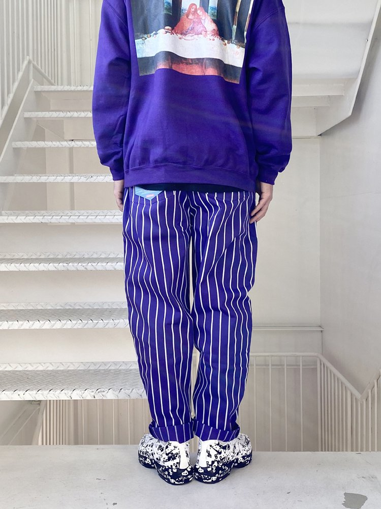 CHEF PANTS (PIN STRIPE) #PURPLE [231-83806]