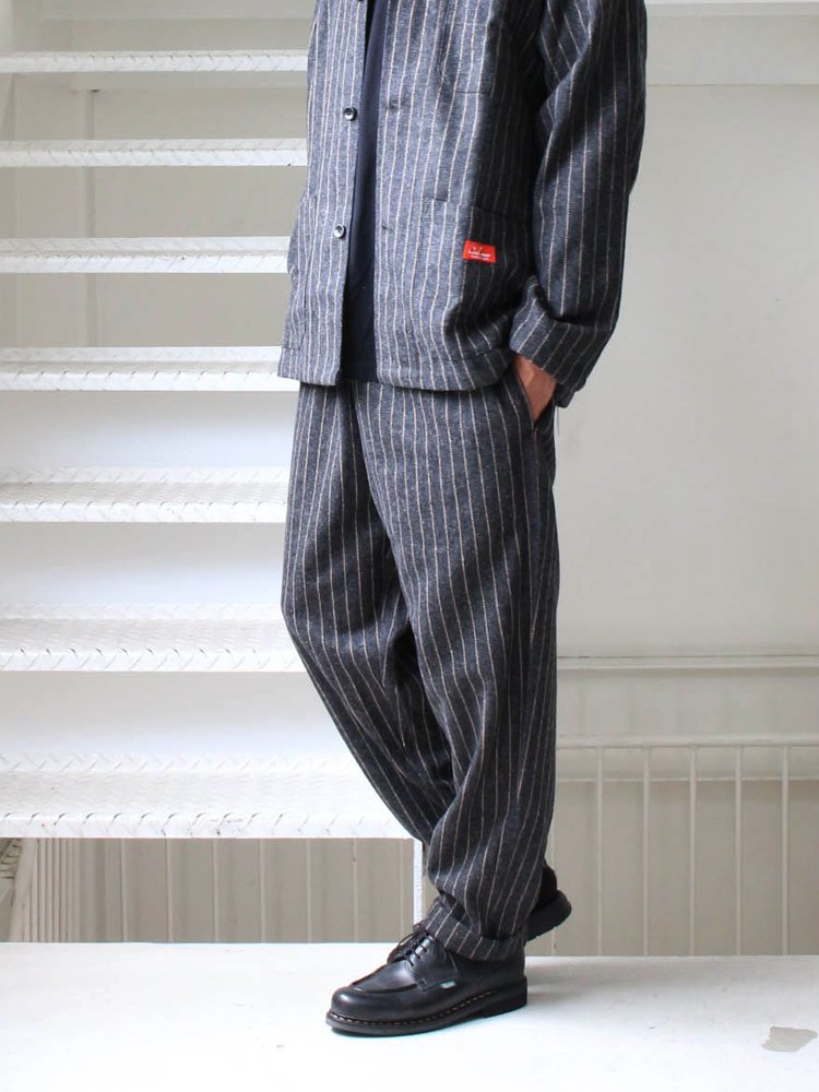 CHEF PANTS (WOOL MIX STRIPE) #GRAY [231-93804]