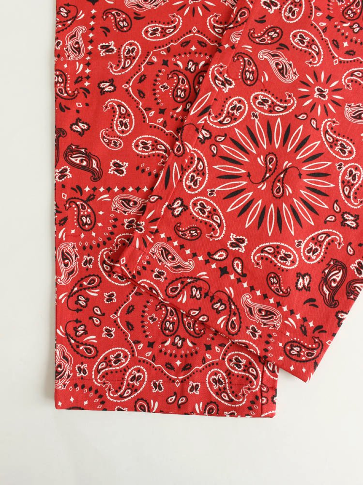 CHEF PANTS (PAISLEY) #RED [231-93811]