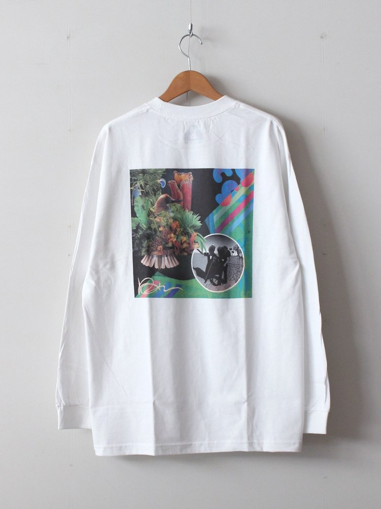 HOLE AND HOLLAND|WACKY×MT.CHILLS LS TEE #WHITE [HH19F34]