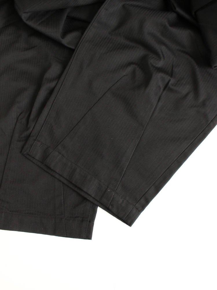 HERRINGBONE BAGGY SLACKS #BLACK [SS20-B02]