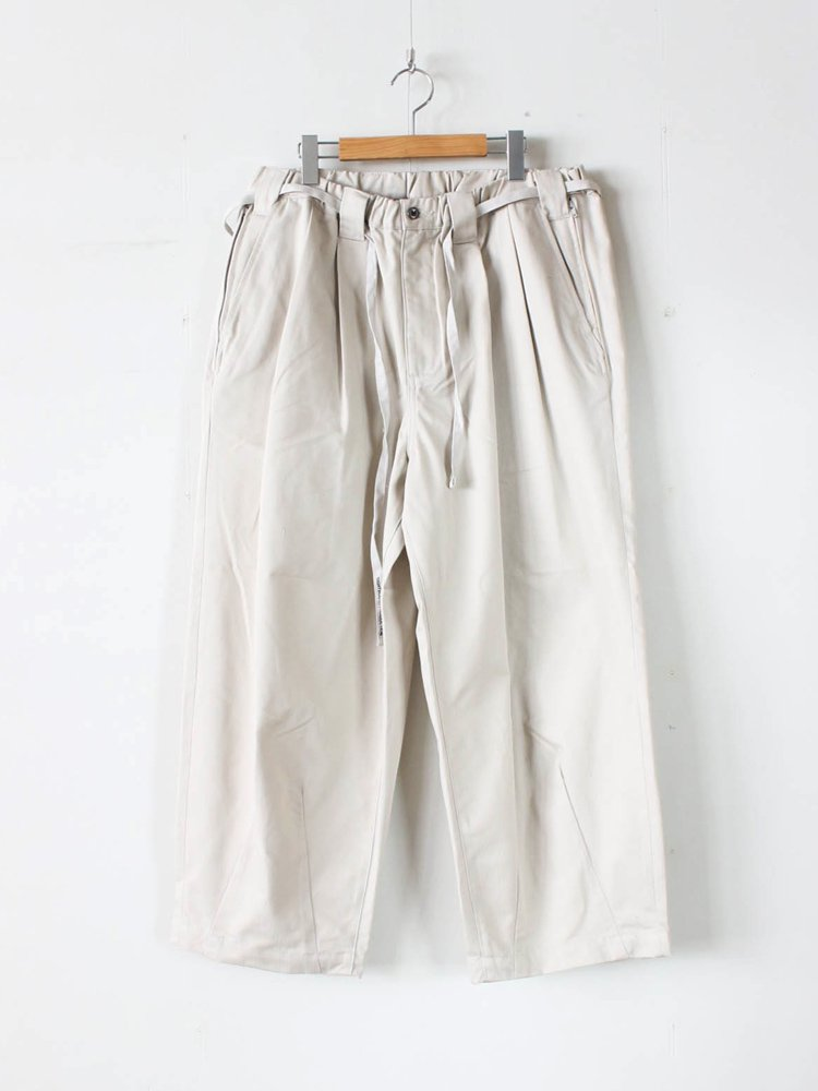 TIGHTBOOTH PRODUCTION|HERRINGBONE BAGGY SLACKS #LIGHT BEIGE [SS20-B02]