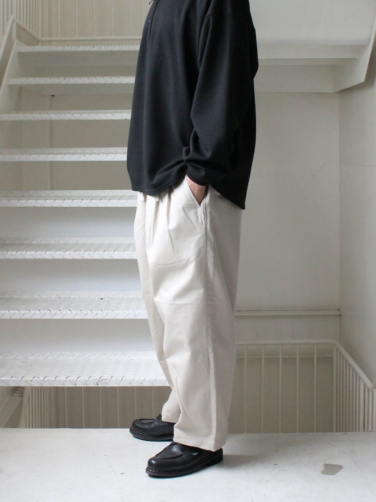 HERRINGBONE BAGGY SLACKS #LIGHT BEIGE [SS20-B02]