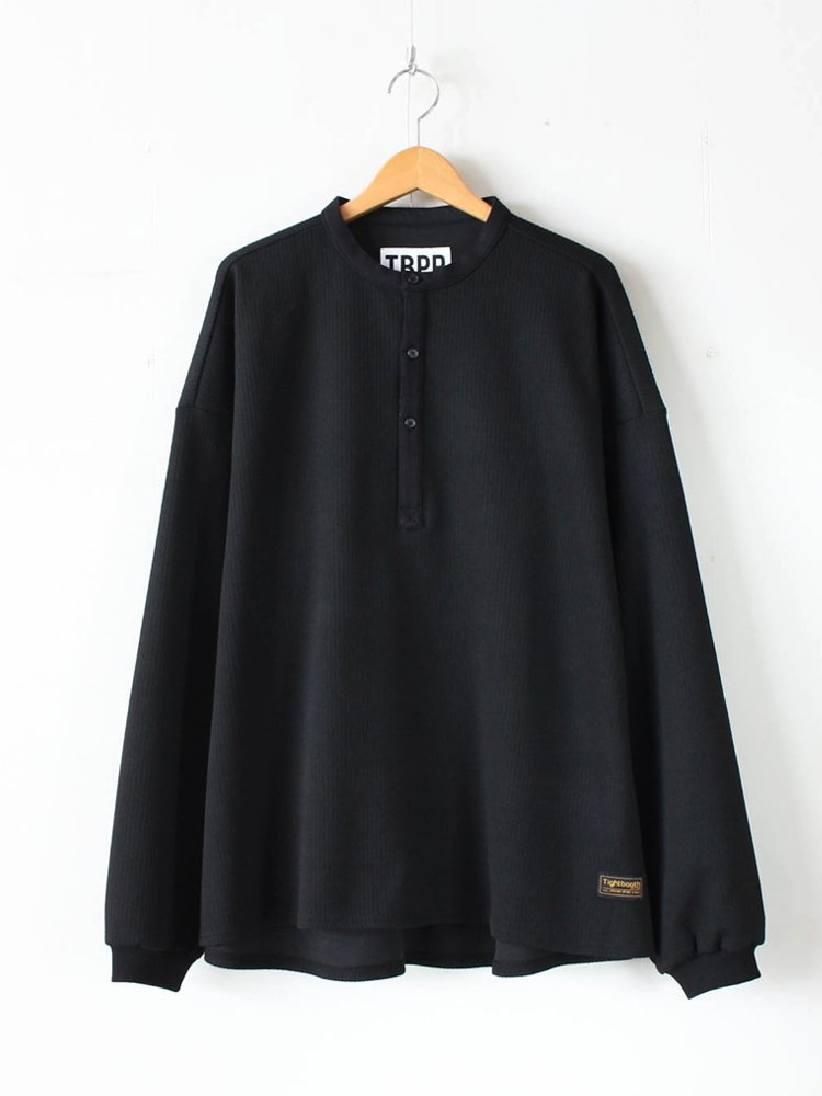 TIGHTBOOTH PRODUCTION|KANOKO BAND COLLAR TOPS #BLACK [SS20-KN01]