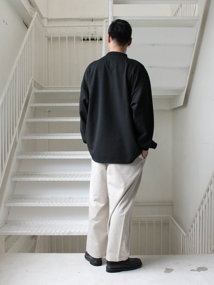 KANOKO BAND COLLAR TOPS #BLACK [SS20-KN01]
