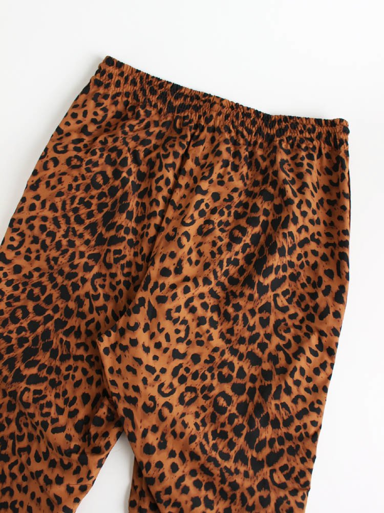 LEOPARD TRACK PANTS #BROWN [20SS-WMO-TP02]